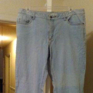 NWT Coldwater Creek Light Blue Jeans Plus Size W18